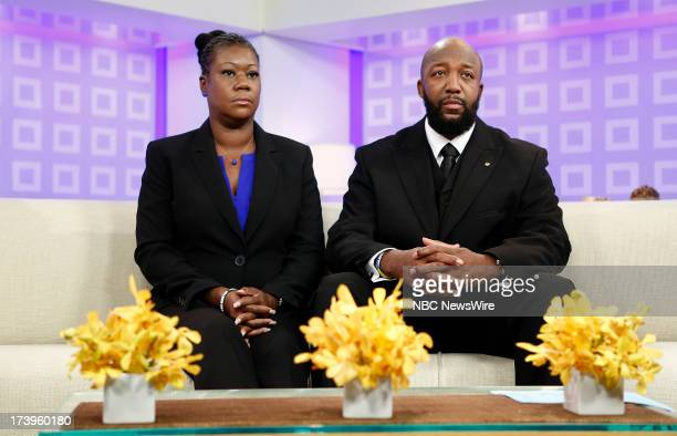 Sybrina Fulton and Tracy Martin parents of Trayvon Martin appear on NBC News' 'Today' show