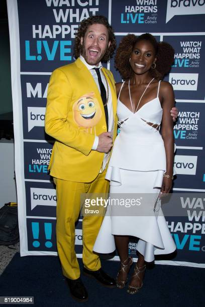T J Miller and Issa Rae