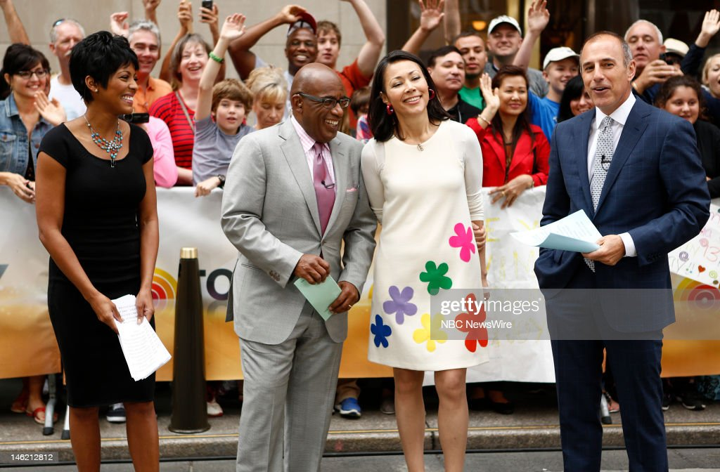Tamron Hall, <a gi-track='captionPersonalityLinkClicked' href=/galleries/search?phrase=Al+Roker&family=editorial&specificpeople=206153 ng-click='$event.stopPropagation()'>Al Roker</a>, <a gi-track='captionPersonalityLinkClicked' href=/galleries/search?phrase=Ann+Curry&family=editorial&specificpeople=215356 ng-click='$event.stopPropagation()'>Ann Curry</a> and <a gi-track='captionPersonalityLinkClicked' href=/galleries/search?phrase=Matt+Lauer&family=editorial&specificpeople=206146 ng-click='$event.stopPropagation()'>Matt Lauer</a> appear on NBC News' 'Today' show --