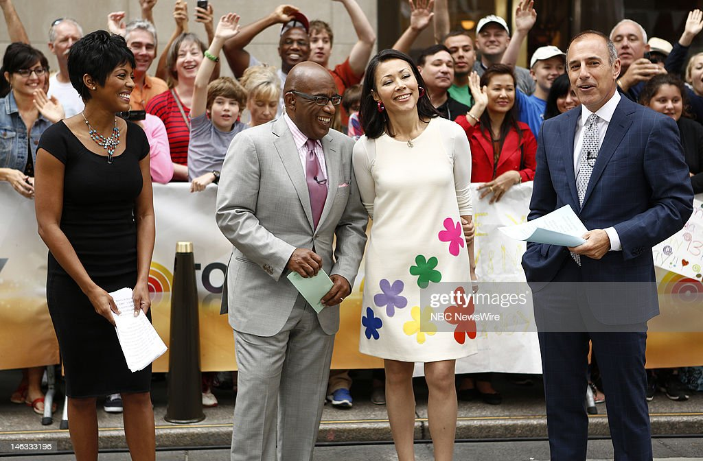 Tamron Hall, Al Roker, Ann Curry and Matt Lauer appear on NBC News' 'Today' show --