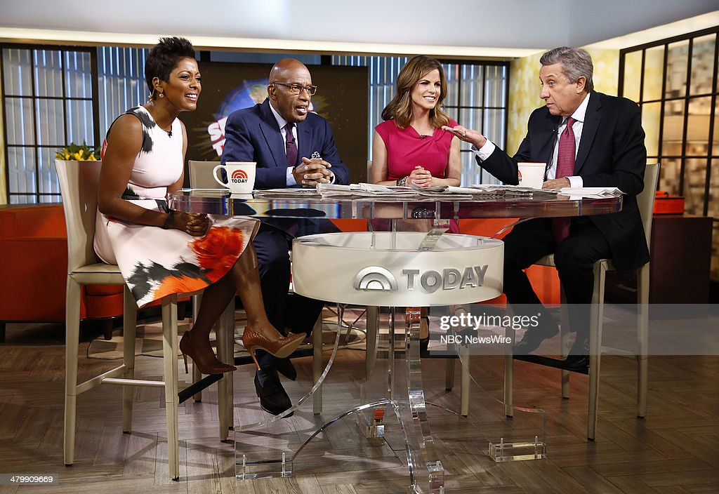 Tamron Hall, Al Roker, Natalie Morales and Len Berman appear on NBC News' 'Today' show --