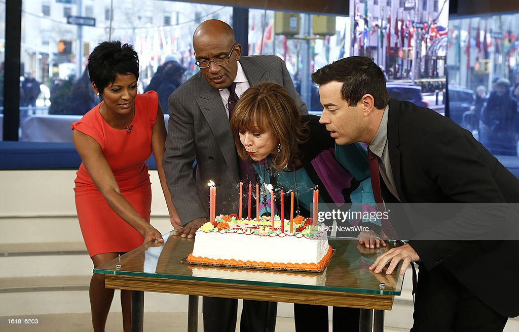 Tamron Hall, Al Roker, Pattie Daly Caruso and Carson Daly appear on NBC News' 'Today' show on March 28, 2013 --