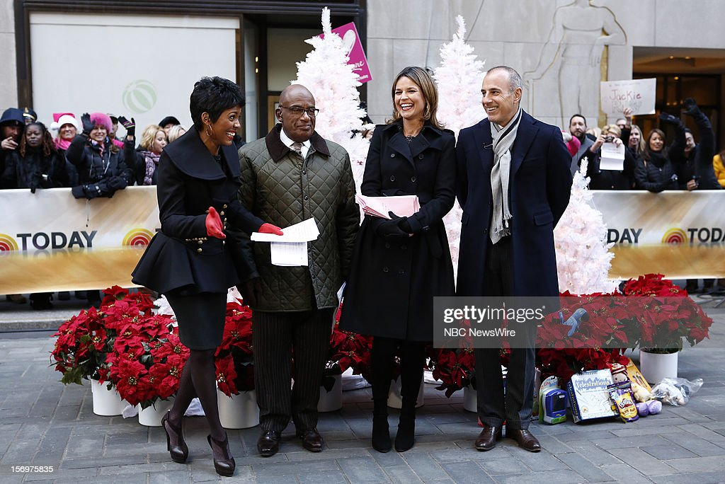 Tamron Hall, Al Roker, Savannah Guthrie and Matt Lauer appear on NBC News' 'Today' show --
