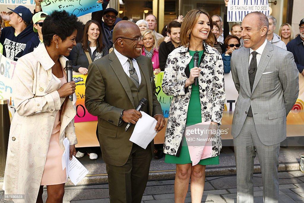 Tamron Hall, Al Roker, Savannah Guthrie and Matt Lauer appear on NBC News' 'Today' show --