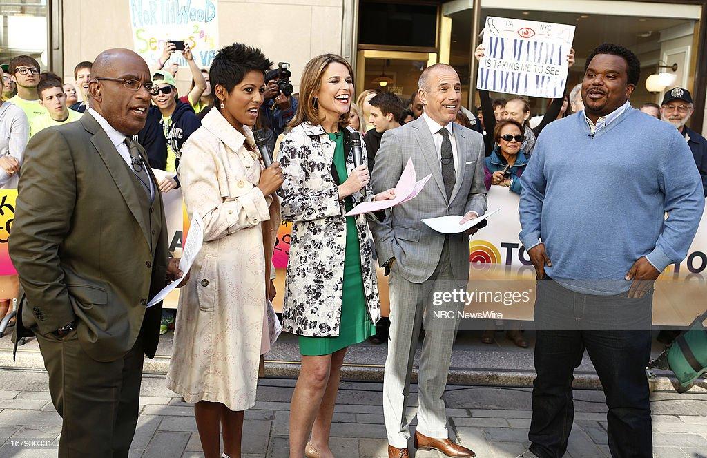 Tamron Hall, Al Roker, Savannah Guthrie, Matt Lauer and Craig Robinson appear on NBC News' 'Today' show --