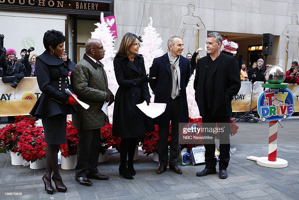 Tamron Hall, Al Roker, Savannah Guthrie, Matt Lauer and Ray Liotta appear on NBC News' 'Today' show --