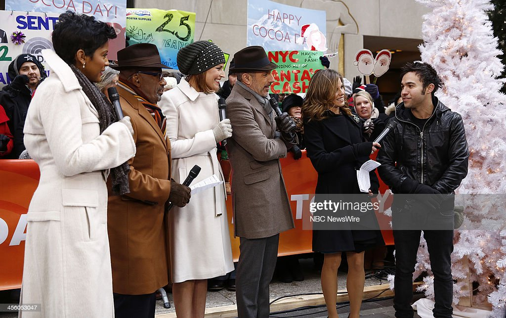 Tamron Hall, <a gi-track='captionPersonalityLinkClicked' href=/galleries/search?phrase=Al+Roker&family=editorial&specificpeople=206153 ng-click='$event.stopPropagation()'>Al Roker</a>, <a gi-track='captionPersonalityLinkClicked' href=/galleries/search?phrase=Savannah+Guthrie&family=editorial&specificpeople=653313 ng-click='$event.stopPropagation()'>Savannah Guthrie</a>, <a gi-track='captionPersonalityLinkClicked' href=/galleries/search?phrase=Matt+Lauer&family=editorial&specificpeople=206146 ng-click='$event.stopPropagation()'>Matt Lauer</a>, <a gi-track='captionPersonalityLinkClicked' href=/galleries/search?phrase=Natalie+Morales+-+News+Anchor&family=editorial&specificpeople=710956 ng-click='$event.stopPropagation()'>Natalie Morales</a> and musician <a gi-track='captionPersonalityLinkClicked' href=/galleries/search?phrase=Pete+Wentz&family=editorial&specificpeople=595892 ng-click='$event.stopPropagation()'>Pete Wentz</a> appear on NBC News' 'Today' show on December 13, 2013 --