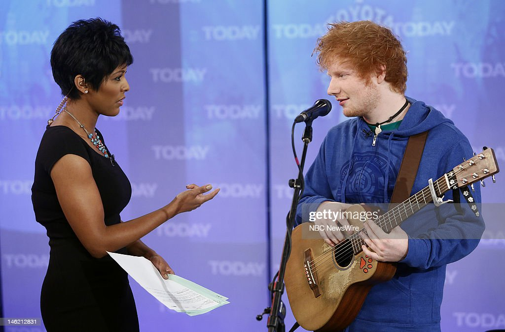 Tamron Hall and <a gi-track='captionPersonalityLinkClicked' href=/galleries/search?phrase=Ed+Sheeran&family=editorial&specificpeople=7604356 ng-click='$event.stopPropagation()'>Ed Sheeran</a> appear on NBC News' 'Today' show --