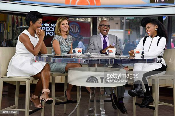 Tamron Hall Natalie Morales Al Roker and Janelle Monae appear on NBC News' 'Today' show