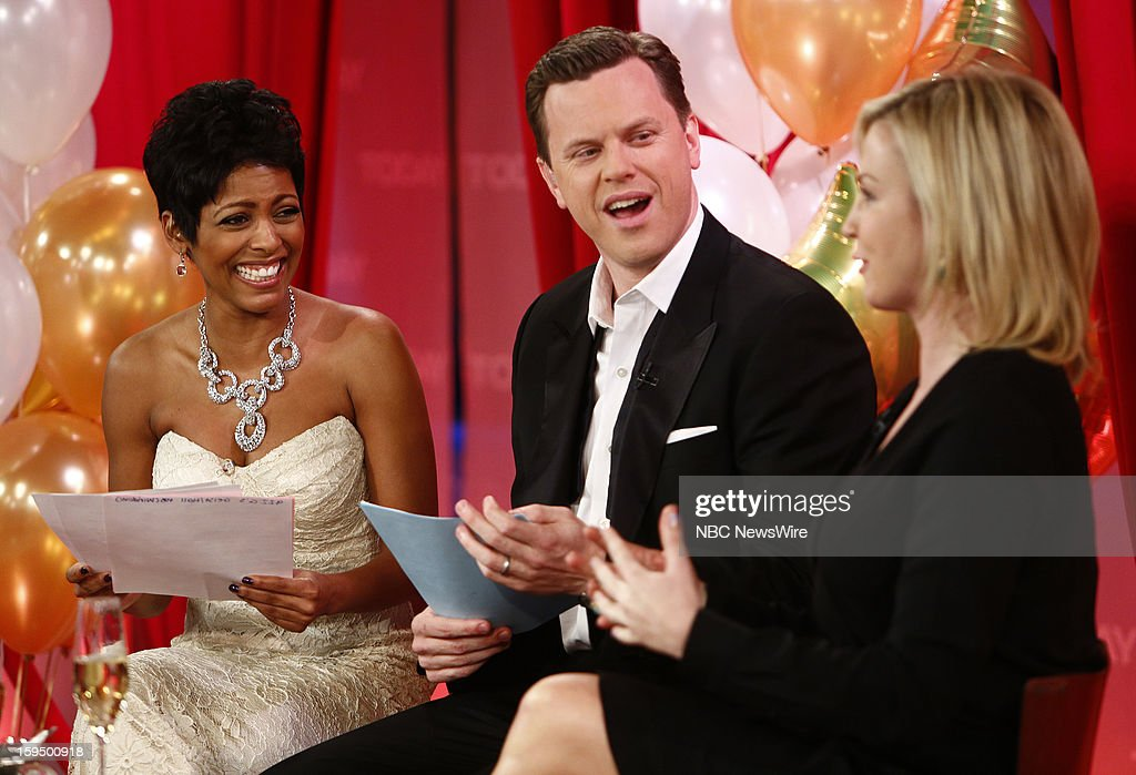 Tamron Hall, Willie Geist and Michelle Beadle appear on NBC News' 'Today' show --