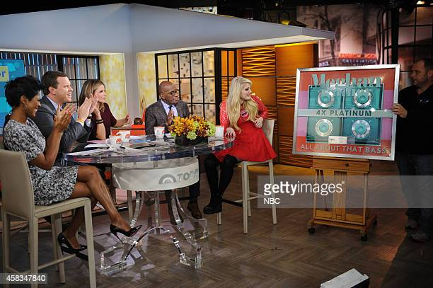 Tamron Hall Willie Geist Natalie Morales Al Roker and Meghan Trainor appear on the 'Today' show on Monday November 2014