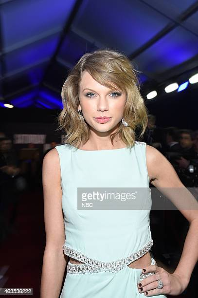 Taylor Swift walks the red carpet at the SNL 40th Anniversary Special at 30 Rockefeller Plaza in New York NY on February 15 2015