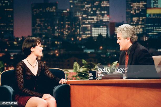 Tennis player Martina Hingis during an interview with host Jay Leno on March 4 1998