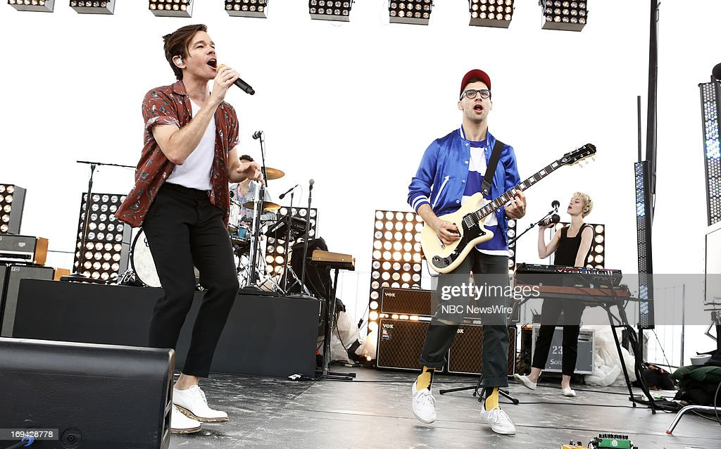 The band 'Fun' performs on NBC News' 'Today' show --
