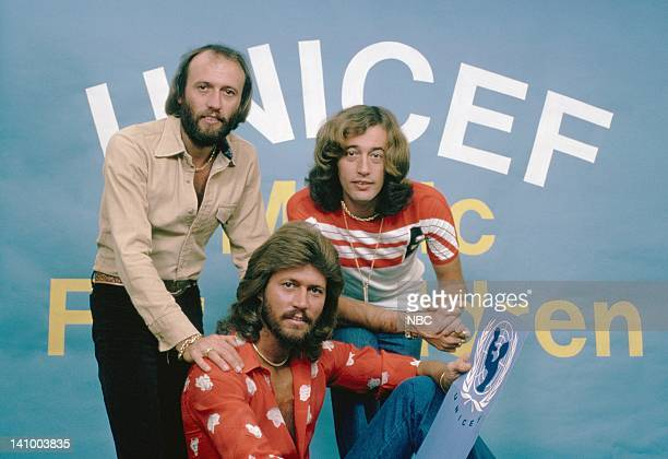 The Bee Gees Maurice Gibb Barry Gibb Robin Gibb Photo by NBC/NBCU Photo Bank