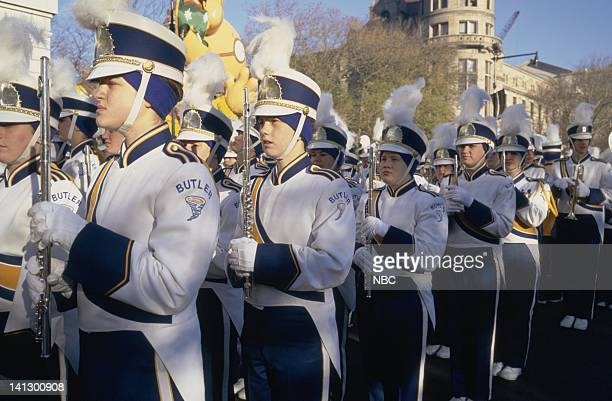 The David W Butler High School Band stands at attention during the 1997 Macy's Thanksgiving Day Parade Photo by NBCU Photo Bank