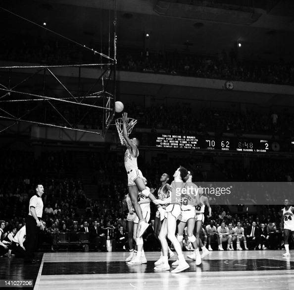 The Duquesne Dukes vs the Loyola Ramblers during the NIT semifinals at Madison Square Garden in New York NY on March 23 1962 Photo by Bob...