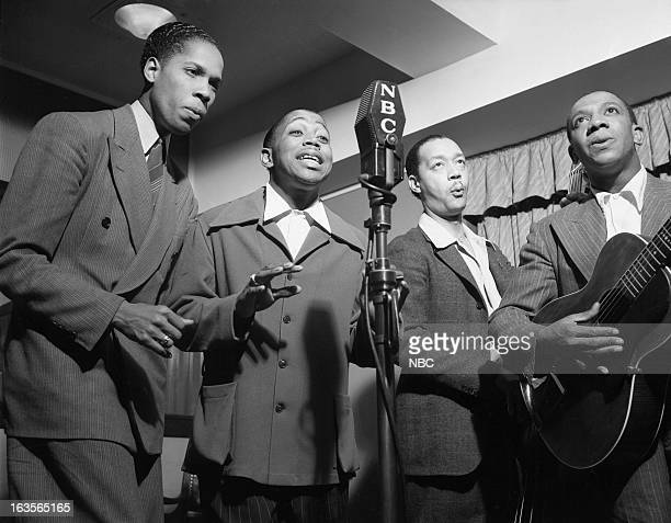 The Ink Spots Bill Kenny Ivory 'Deek' Watson cellist Orville 'Hoppy' Jones guitarist Charlie Fuqua in 1939