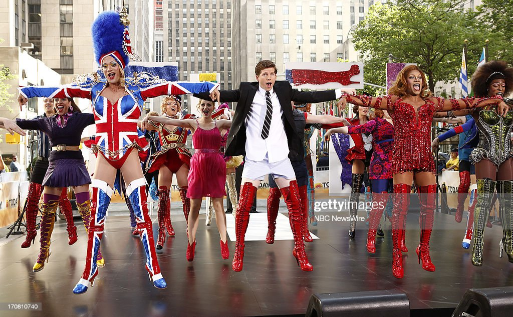 The musical 'Kinky Boots' appears on NBC News' 'Today' show --