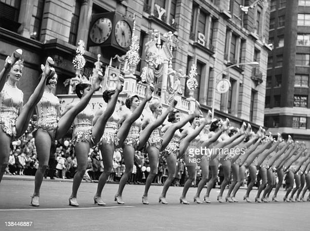 The Rockettes perform during the 1964 Macy's Thanksgiving Day Parade
