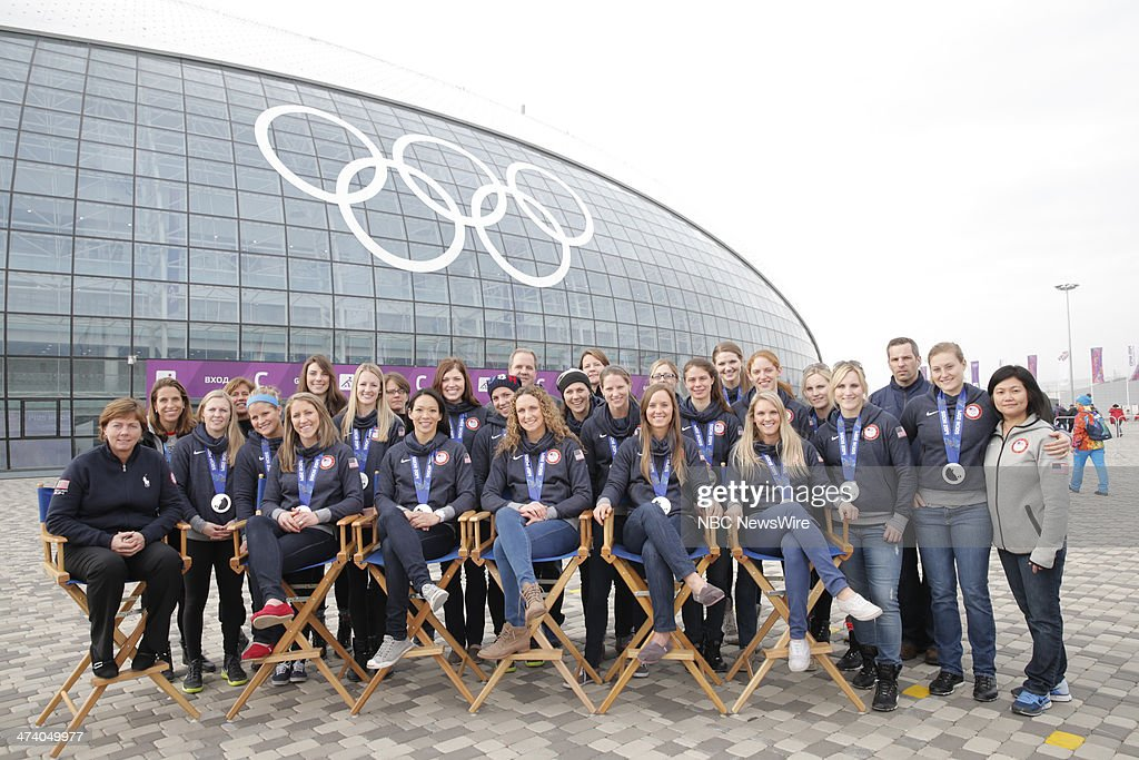 The United States Women's Hockey Team from the 2014 Olympics in Socci --