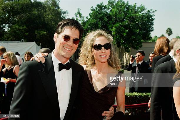 Thomas Gibson wife Christine Gibson arrives at the 50th Annual Primetime Emmy Awards held at the Shrine Auditorium in Los Angeles CA on September 13...