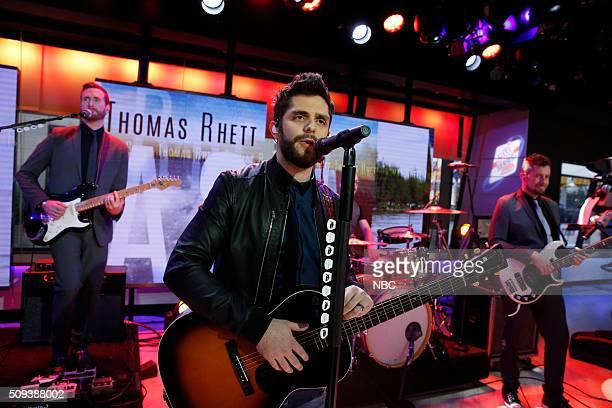 Thomas Rhett performs on the 'Today' show on Wednesday February 10 2016
