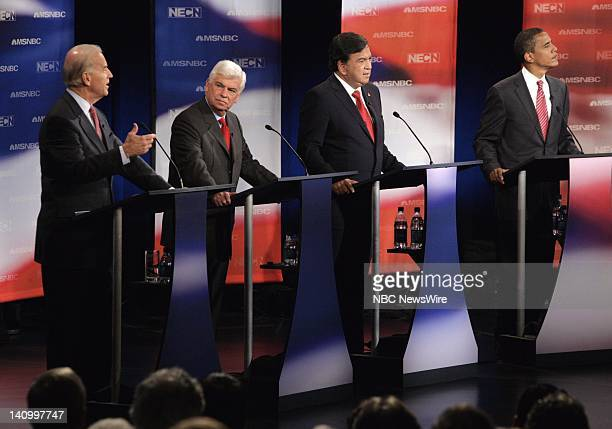 Tim Russert moderates the Democratic Presidential Candidates Debate from Dartmouth College in Hanover New Hampshire on September 26 2007 Photo by...