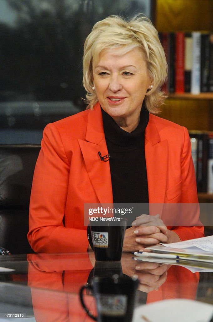 Tina Brown, Founder of Women in the World' appears on 'Meet the Press' in Washington, D.C., Sunday, March 2, 2014.