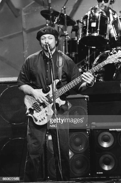 Tiran Porter of the musical guest The Doobie Brothers performs on June 17 1991