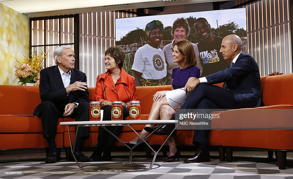 <a gi-track='captionPersonalityLinkClicked' href=/galleries/search?phrase=Tom+Brokaw&family=editorial&specificpeople=203263 ng-click='$event.stopPropagation()'>Tom Brokaw</a>, Meredith Brokaw, <a gi-track='captionPersonalityLinkClicked' href=/galleries/search?phrase=Savannah+Guthrie&family=editorial&specificpeople=653313 ng-click='$event.stopPropagation()'>Savannah Guthrie</a> and <a gi-track='captionPersonalityLinkClicked' href=/galleries/search?phrase=Matt+Lauer&family=editorial&specificpeople=206146 ng-click='$event.stopPropagation()'>Matt Lauer</a> appear on NBC News' 'Today' show --