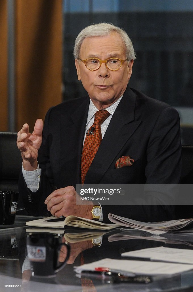 – Tom Brokaw, NBC News Special Correspondent, appears on 'Meet the Press' in Washington D.C., Sunday, March 3, 2013.