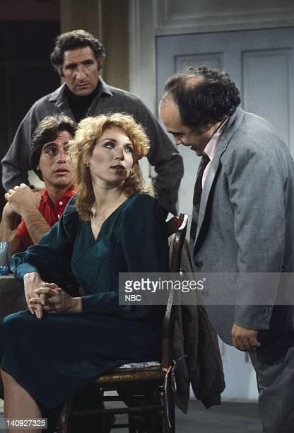 Tony Danza as Tony Banta Judd Hirsch as Alex Reiger Marilu Henner as Elaine O'ConnorNardo Danny DeVito as Louie De Palma Photo by Paul...