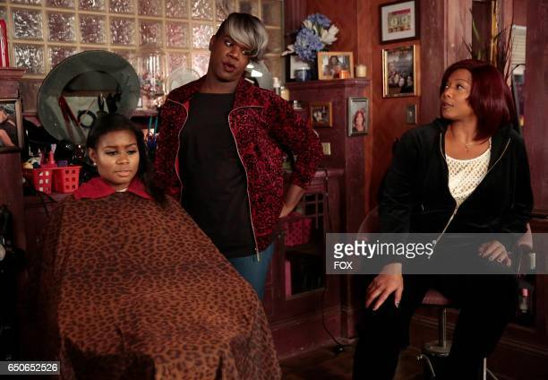 Pictured Top LR Miss Lawrence and Queen Latifah in the 'Infamous' episode of STAR airing Wednesday FEb 1 on FOX