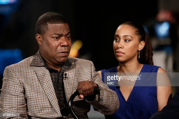 Tracy Morgan and Megan Wollover appear on 'NBC Nightly News' on Monday June 1 2015