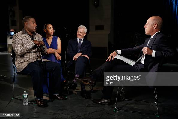 Tracy Morgan Megan Wollover Benedict Morelli and Matt Lauer appear on 'NBC Nightly News' on Monday June 1 2015