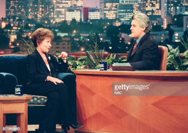 TV personality Judge Judy during an interview with host Jay Leno on April 30 1999