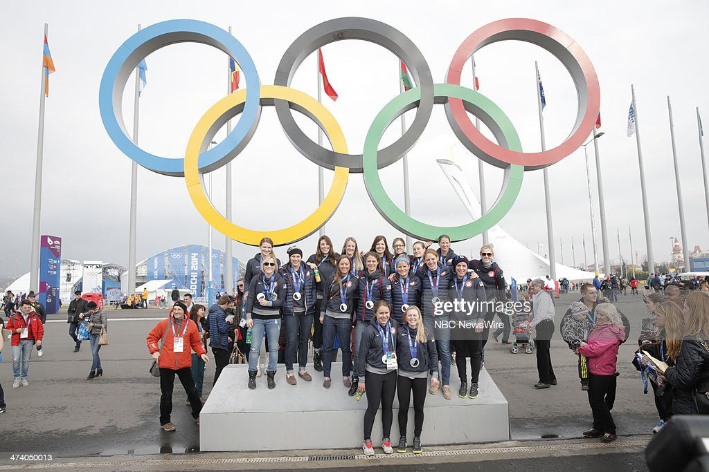 """NBC's """"Today"""" From Sochi - With Guests Women's US Hockey Team, Gracie Gold, Ashley Wagner, Polina Edmunds"""