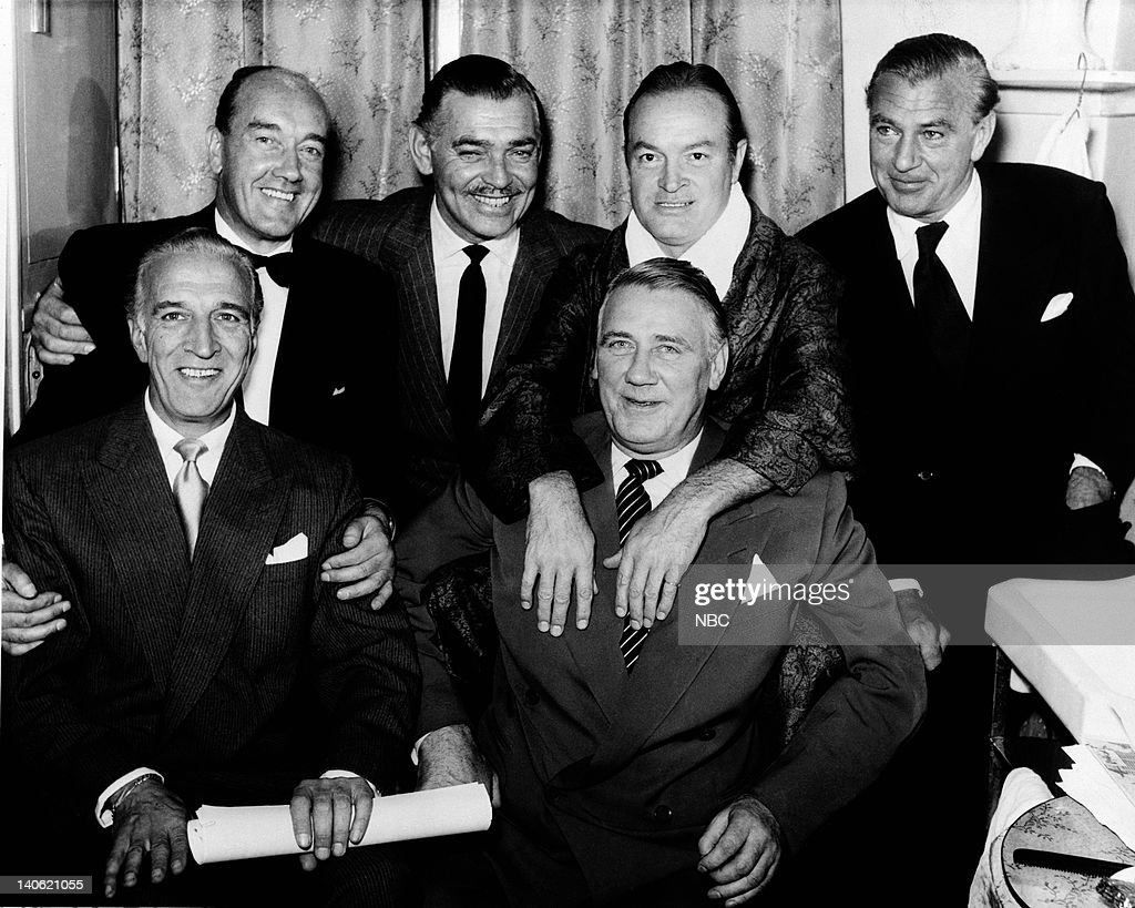 unknown, Clark Gable, Bob Hope, Gary Cooper (front row) unknowns -- Photo by: NBCU Photo Bank