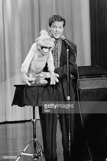 Ventriloquist Jeff Dunham performs on April 6 1990