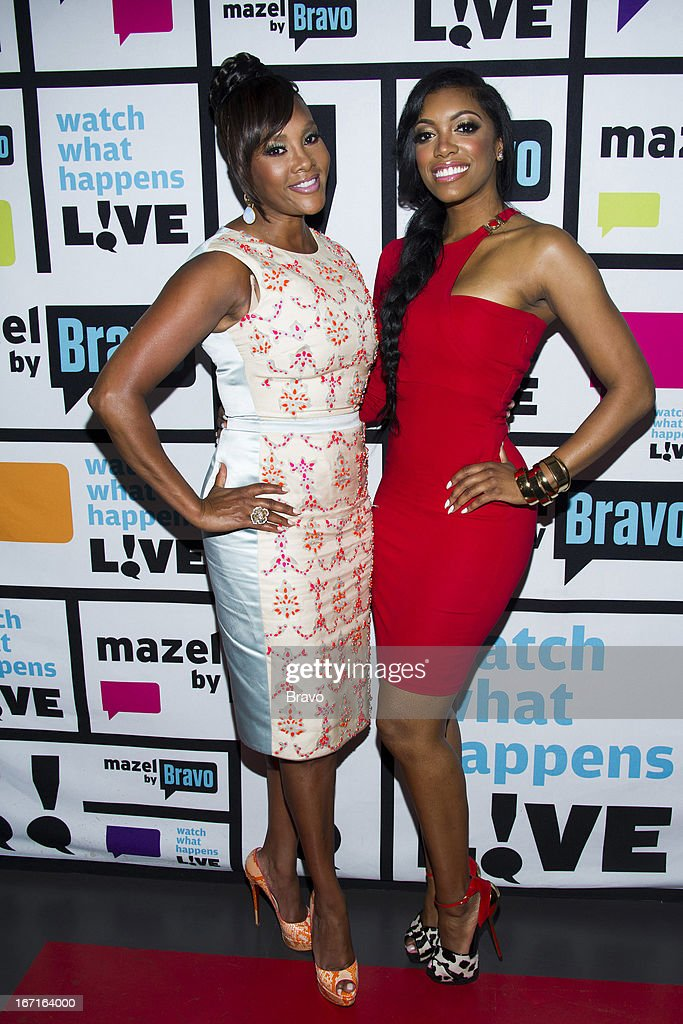 Vivica A. Fox and Porsha Stewart -- Photo by: Charles Sykes/Bravo/NBCU Photo Bank via Getty Images