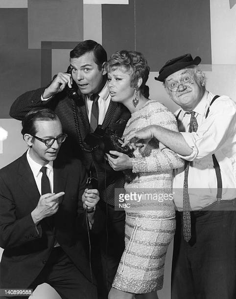 Wally Cox Peter Marshall Abby Dalton Cliff Arquette as Charlie Weaver Photo by NBCU Photo Bank