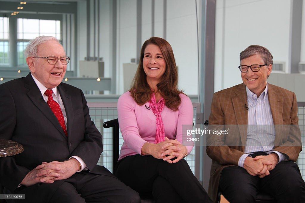 Warren Buffett Bill and Melinda Gates in an interview on May 5 2015