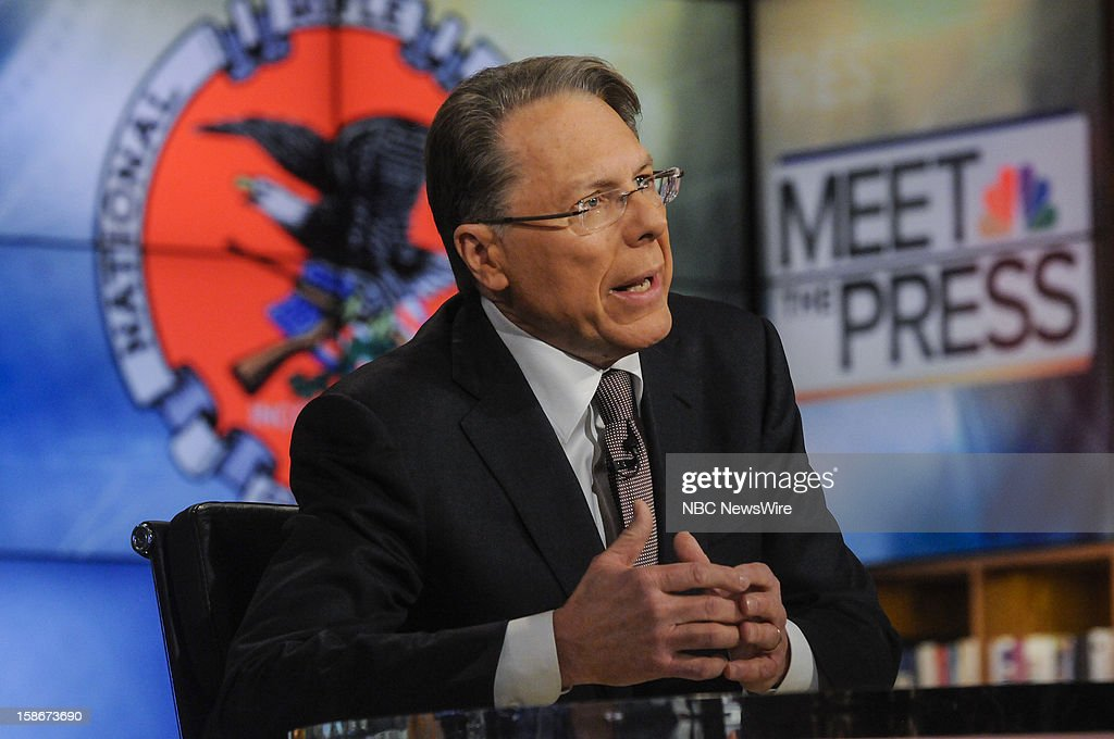 – Wayne LaPierre, CEO and Executive Vice President, National Rifle Association, appears on 'Meet the Press' in Washington D.C., Sunday, Dec. 23, 2012.