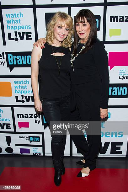 Wendi McLendonCovey and Anjelica Huston