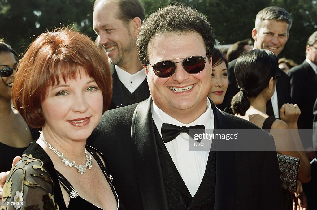 Wife Paula Sutor, Wayne Knight arrives at the 50th Annual Primetime Emmy Awards held at the Shrine Auditorium in Los Angeles, CA on September 13, 1998 --