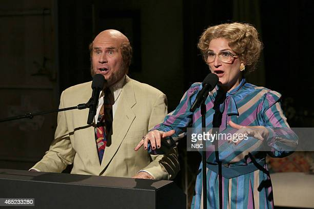 Will Ferrell and Ana Gasteyer as Marty and Bobby Culp during the 'Marty and Beyonce' skit on February 15 2015