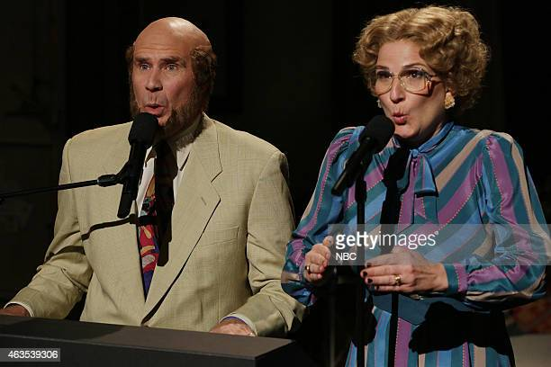 Will Ferrell and Ana Gasteyer as Marty and Bobby Culp on February 15 2015