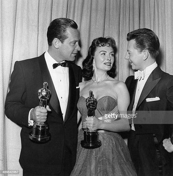 William Holden winner of Best Actor for 'Stalag 17' Donna Reed winner of Best Supporting Actress for 'From Here to Eternity' cohost Donald O'Connor...