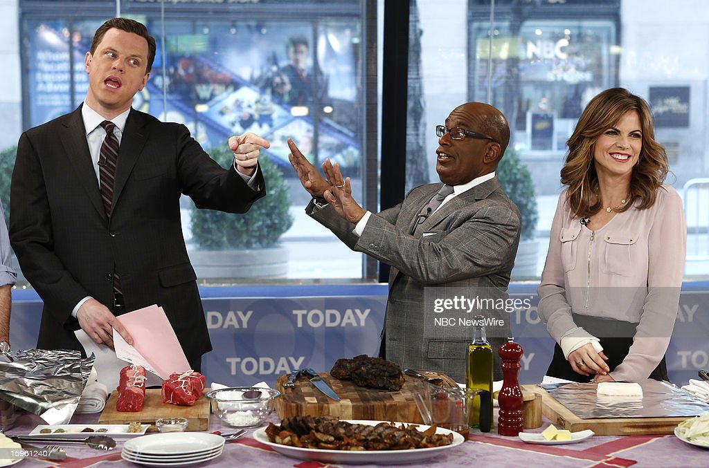 Willie Geist, Al Roker and Natalie Morales appear on NBC News' 'Today' show --
